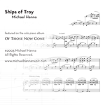 Ships of Troy - solo piano sheet music