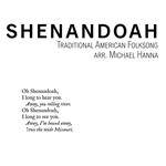 "Solo piano sheet music for Michael Hanna - Shenandoah. From the album ""Of Those Now Gone."""